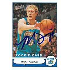Matt Freije Autographed Hand Signed Basketball Card (New Orleans Hornets) 2005 Topps...