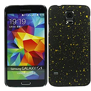 Heartly Night Sky Glitter Star 3D Printed Design Retro Color Armor Hard Bumper Back Case Cover For Samsung Galaxy S5 i9600 - Sweet Yellow