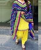 Rudra Fashion Hub women's yellow patiyala panjabi Dress materials