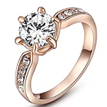 buy [Eternity Love] Women'S 18K Rose Gold Plated Timeless Opal Wedding Engagement Rings Best Promise Rings For Her Anniversary Cocktail Bands Tivani Valentine'S Day Gifts