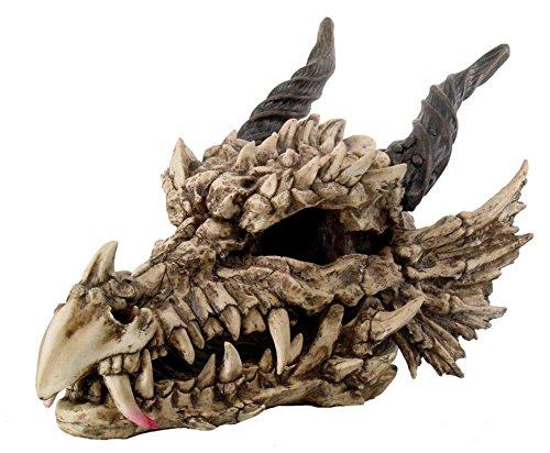 "Giant Dragon Fossil Skull Statue Home Decor Figurine 27"" Long Legendary Beast"