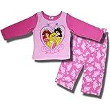 """Disney Princess """"Princess Hearts"""" 2 piece fleece pajamas for toddler girls"""