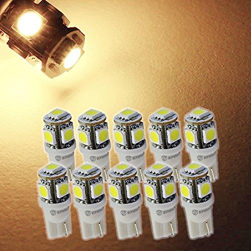 Zone Tech 10x WARM WHITE High Power LED Car Lights Bulb