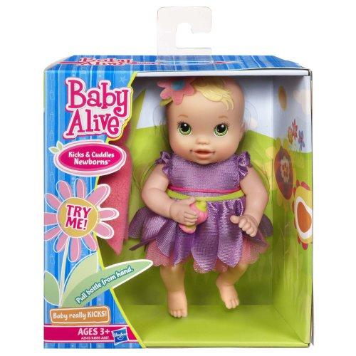Imagen de Baby Alive patadas y Cuddles recién nacidos caucásicos - Muñeca Ojos verdes