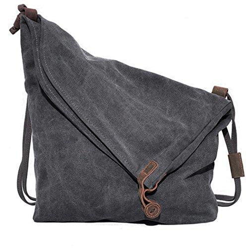 Coofit-Damen-Herren-Canvas-Leinwand-Rucksack-Umhngetasche-Messenger-Bag-Schultertasche-Tasche