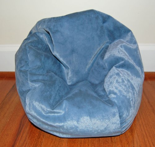 40% Off! Toy Bean Bag Chair For 18 Inch American Girl Size Doll - Slate Blue Velvet - Free Shipping!