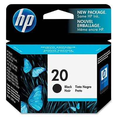 HP 20 Black Original Ink Cartridge (C6614D)