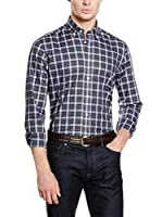 Hackett London Camisa Hombre Forest Tartan Chk (Multicolor)