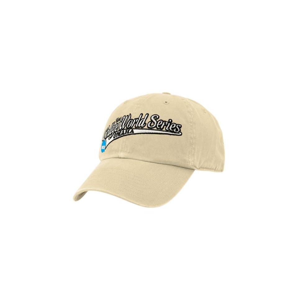bc4dc1a1ca3 Twins Enterprise 2009 NCAA Mens College World Series Khaki Official Logo  Adjustable Slouch Hat