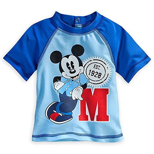 Disney baby boys 39 mickey mouse rash guard m is for for Baby rash guard shirt