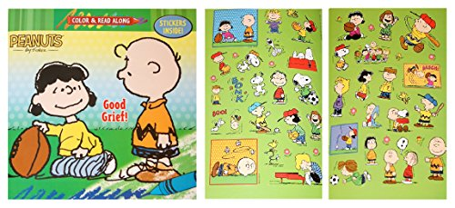 Peanuts Color and Read Along Book with Stickers - Good Grief!