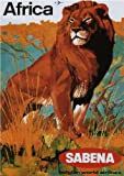 AFRICA, SABENA, BELGIAN WORLD AIRLINES - 1960 - Airline Poster Belgium A3 Matte Finish (297 x 420mm)