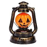 SAMYO ハロウィーン ホラー ポータブル 幽霊笑いサウンド&フラッシュ ランタン 電池式 パンプキン 灯油ランプ カボチャ バーとパーティーの飾り SM-0781