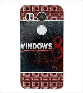 PrintDhaba Windows Logo D-5683 Back Case Cover for LG NEXUS 5X (Multi-Coloured)