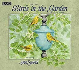 Lang Birds In The Garden 2016 Wall Calendar by Jane Shasky, January 2016 to December 2016, 13.375 x 24 Inches (1001895)