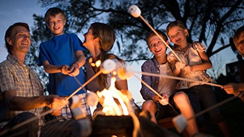 100 Pack – 36″ Bamboo Marshmallow Roasting Sticks, Skewers – Hot Dog, Smores, BBQ, Kabobs, Boudin, Sausage. Camp Fire, Camping Stix. STRONGEST ON AMAZON 5.5mm & 3FT LONG – Wooden S'mores Set