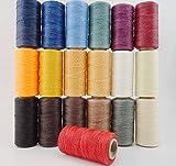 レザー クラフト 用 ロウ 蝋 引き 糸 いと 長さ 260m 太さ 1mm ワックス コード 選べる カラー (ベージュ)