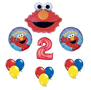 Elmo Sesame Street #2 2nd Second Birthday Party Supply Balloon Mylar