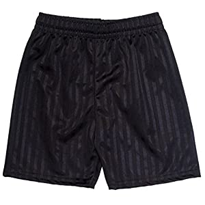 Shadow Stripe Gym Sports Games School PE Shorts Unisex-Black-2-3 Years