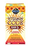 Garden of Life Vitamin Code Raw D3 5000 Multivitamins, 60 Count