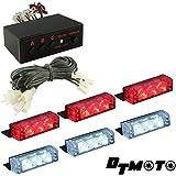 DT MOTO™ Red White 18x LED Fire Truck EMS EMT Strobe Warning Grill Light - 1 set