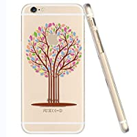 For iPhone 6 Case, Let it be Free iphone 6 (4.7-inch) Protective Case Soft Flexible TPU Transparent Skin Scratch-Proof Case for iPhone 6 (4.7-inch)- Tree patterned by Let it be Free