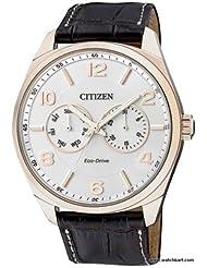 Citizen Eco-Drive Analog White Dial Men's Watch - AO9024-08A