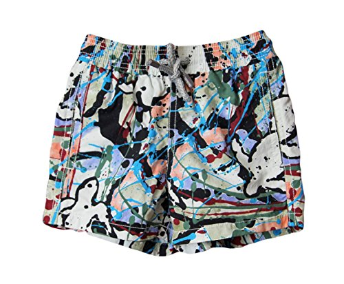 Vilebrequin Boys Jim Epinard Splash Drawstring Swim Shorts Jim1007H 2Ans/6M-1Y