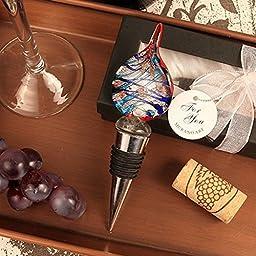 Beautiful Teardrop Arte Murano Bottle Stopper - Set of 24