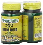 Veganicity Folic Acid 400µg Women's Health Supplement - 2 x Packs of 90 Tablets (Pack of 2, Total 180 Tablets)