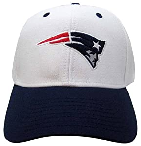 NFL New England Patriots Basic Logo Velcro Closure Baseball Hat, White