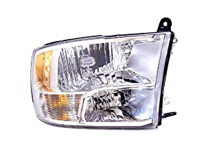 Ram 1500/2500/3500 Head Light Lamp Assembly Right Passenger w/ Quad Lights
