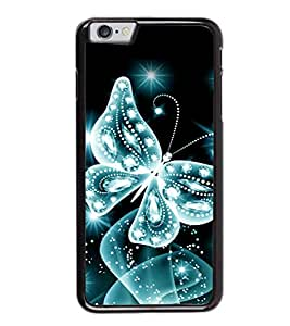 printtech Sparkling Butterfly Back Case Cover for Apple iPhone 6