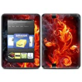 """Kindle Fire HD (fits only 7"""" previous generation) Skin Kit/Decal - Flower of Fire"""