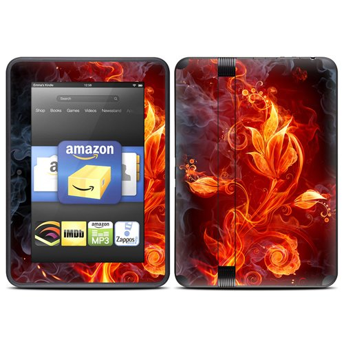 Sale!! Kindle Fire HD (fits 7 only) Skin Kit/Decal - Flower of Fire