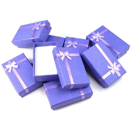GadgetpoolUK 12 x Luxury Jewellery Gift Boxes Box for Pendant Bracelet Earring Necklace Ring Dimension:5x8x2.5cm