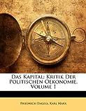 Image of Das Kapital: Kritik Der Politischen Oekonomie, Volume 1 (German Edition)