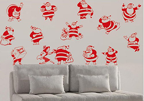 Toprate(Tm) Merry Christmas Santa Claus Family Christmas Atmosphere Home Art Decor Decal Love Kids Bedroom front-61742