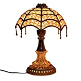 UDee Elegant Decorative Table Lamp White and Silver