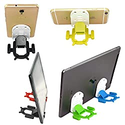 SNDIA Cute Android Shape Mobile Phone Stand/Holder - Portable Adjustable Foldable Stand Holder for Smartphone & Tabs ( Colors May Vary)