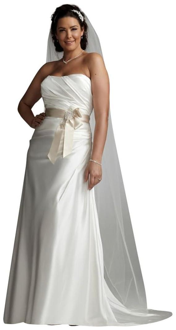 SAMPLE Charmeuse Side-Drape Wedding Dress with Sash Style AI13011716