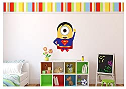 Large Minion Superman Sticker Wall Decal Kids Room 18 x20