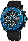 Stuhrling Prestige Men's 322A.33X61 Prestige Swiss Made Automatic Valjoux 7750 Maverick Chronograph Multifunction Blue IP Watch