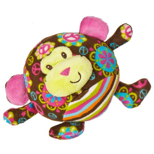 "Mary Meyer Print Pizzazz Hugaroo 5.5"" Peace Monkey Plush"
