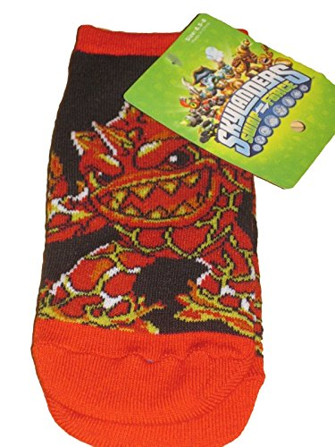 Skylanders Swap Force Boys Toddler Socks Dress up Red Black Eruptor Size 6 7 8 Shoe