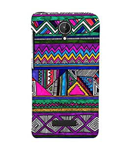 Abstract Pattern 3D Hard Polycarbonate Designer Back Case Cover for Micromax Canvas Spark Q380
