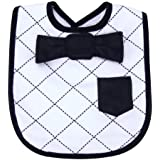 Trend Lab Dress Up Bowtie Bib, Versailles Black and White