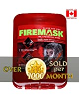 FIREMASK Emergency Escape Hood Oxygen Mask Smoke Mask Respirator for Industrial and Urban Survival - Protects for 60 Min Against Fire, Gas, & Smoke Inhalation . Great for Home, Office, Truck, High Rise Buildings. Get Peace of Mind Now! Makes a great House warming, Black Friday or Christmas gift !