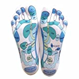 Reflexology Socks - Reflexology Zones Marked. 1 Pair