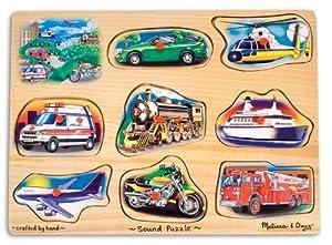 Amazon.com: Melissa & Doug Vehicle Sound Puzzle: Melissa